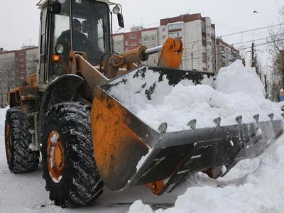 Уборка снега погрузчиком ижевск